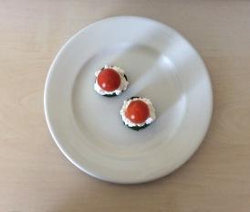 Gurken Frischkaese Tomate