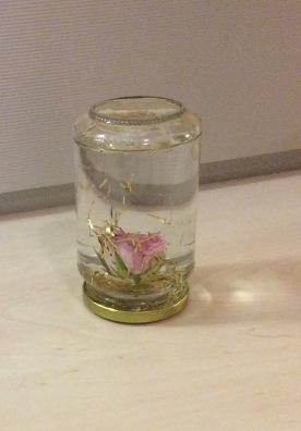 Einmachglas diy schneekugel verschoenern wiederverwenden