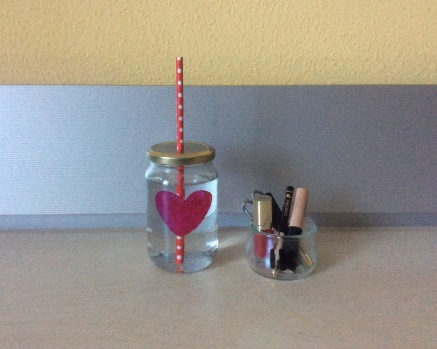 Marmeladenglas verschoern Nagellack